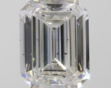 A 1.00 Carat Emerald-Cut Diamond, G Color, SI1 Clarity