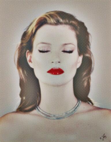 CHRIS LEVINE | KATE MOSS SHE'S LIGHT (DOTS), 2013