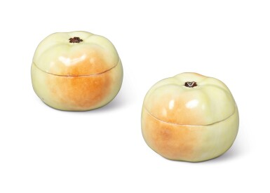 View 2. Thumbnail of Lot 166. A PAIR OF MEISSEN CRAB APPLE BOXES AND COVERS, EARLY 19TH CENTURY.