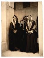 Saudi Arabia | Photograph of Princess Alice with her husband and Lord Frederick Cambridge, 1938