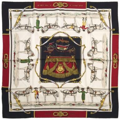 Printed silk scarf 'Harnais a L'Anglais', Hermès