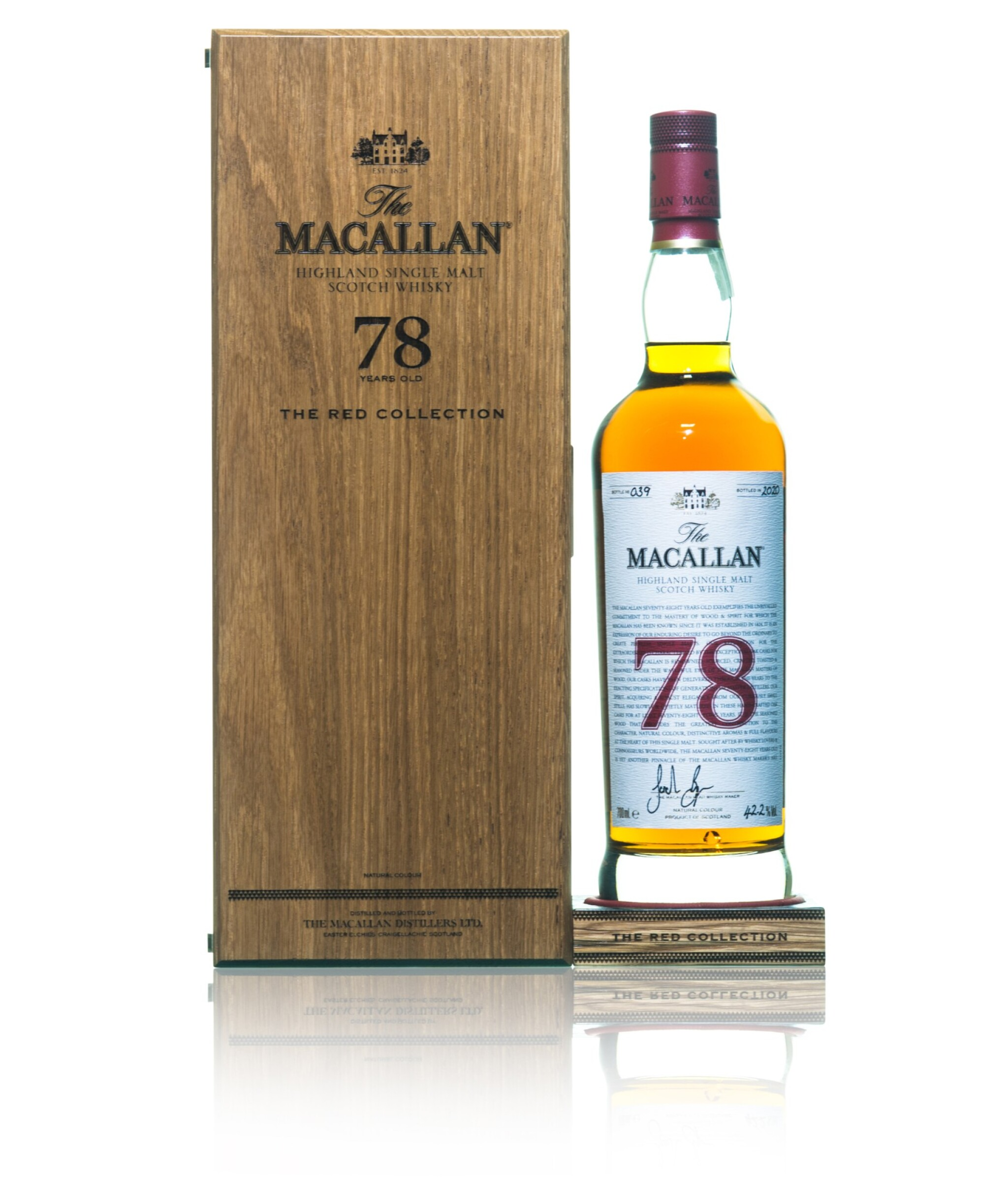 View full screen - View 1 of Lot 45. The Macallan The Red Collection 78 Year Old 42.2 abv NV (1 BT70).