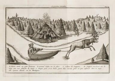 View 1. Thumbnail of Lot 171. OUTHIER R. Journal d'un voyage au Nord en 1736 et 1737. Paris, 1744. In-4 veau fauve de l'époque.
