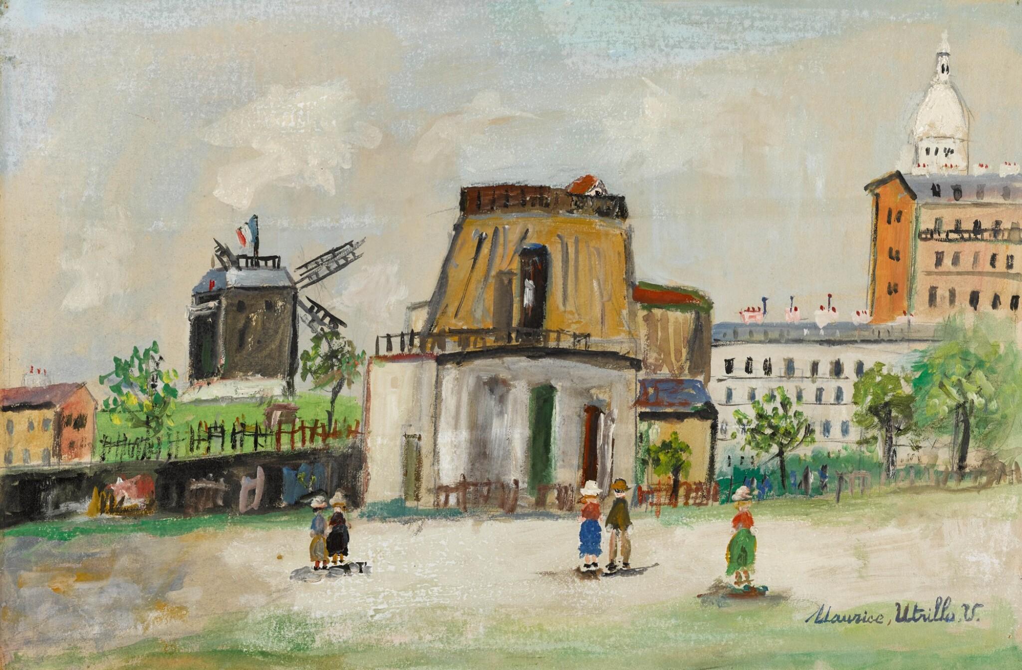 View full screen - View 1 of Lot 82. Tour du Philosophe et Moulin de la Galette, Montmartre.