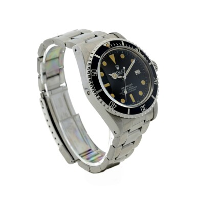 View 3. Thumbnail of Lot 110. ROLEX   REFERENCE 1665 SEA-DWELLER 'GREAT WHITE' A STAINLESS STEEL AUTOMATIC WRISTWATCH WITH DATE AND BRACELET, CIRCA 1980.