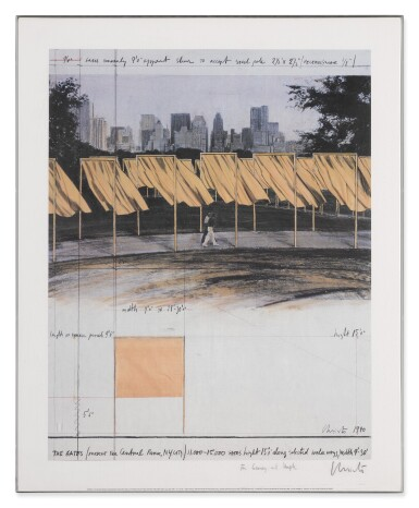 View 9. Thumbnail of Lot 34. The Gates, Project for Central Park, New York City: 5 Prints.
