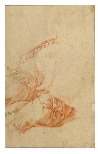 View 2. Thumbnail of Lot 22. Recto: A Bishop Verso: A drapery study.