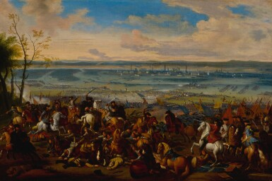 View 2. Thumbnail of Lot 636. Battle of Torino, and another battle scene.