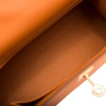 Hermès Abricot Sellier Kelly 25cm of Epsom Leather with Gold Hardware
