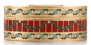 View 3. Thumbnail of Lot 10. A GOLD, HARDSTONE AND ENAMEL SNUFF BOX, JOHANN CHRISTIAN NEUBER, DRESDEN, CIRCA 1775.