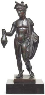 A Roman Bronze Figure of Hermes, circa 2nd Century A.D.