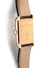 JAEGER-LECOULTRE | REVERSO, REFERENCE 215.2.S9, A PINK GOLD DUAL TIME ZONE REVERSIBLE WRISTWATCH WITH 24 HOURS INDICATION, CIRCA 2017