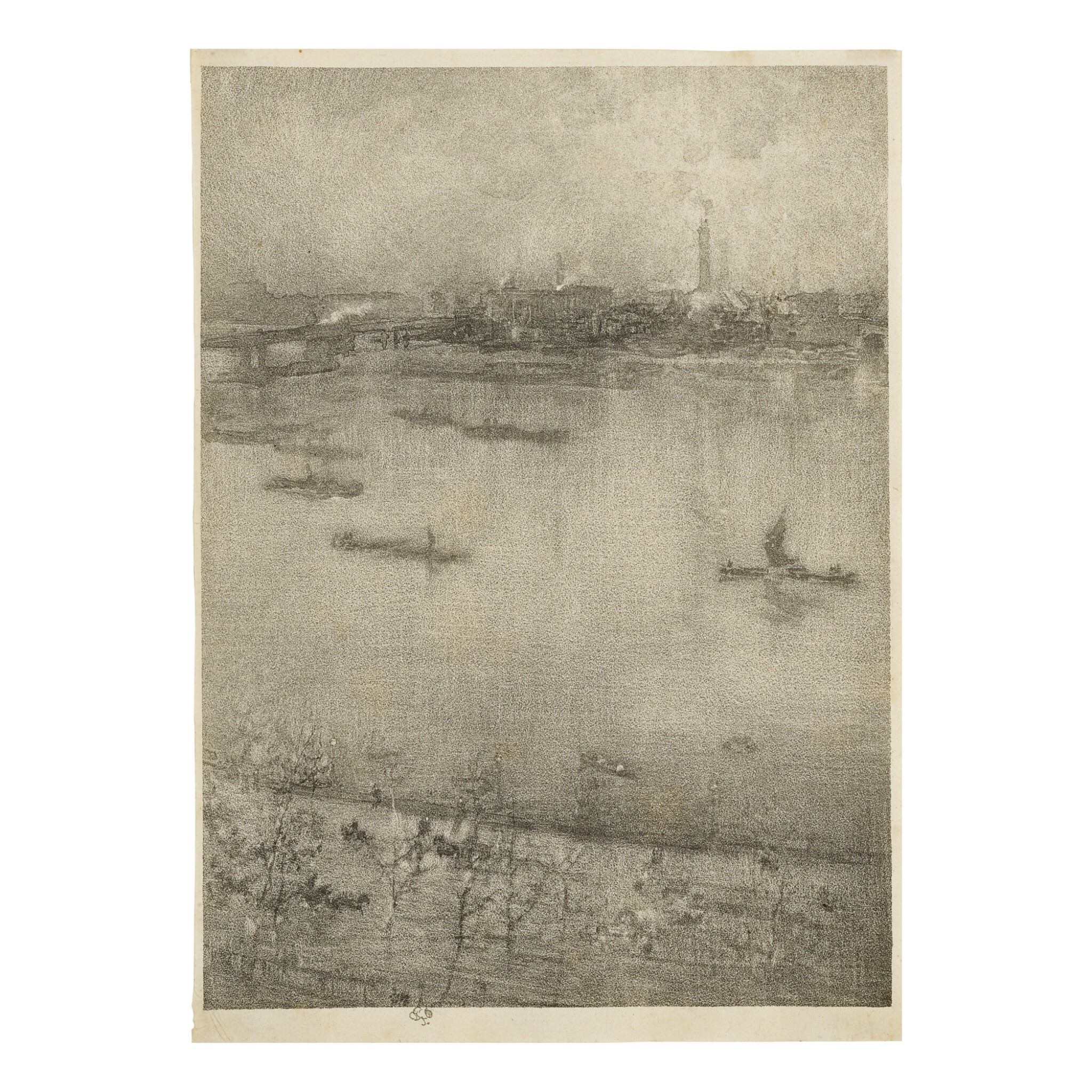 View full screen - View 1 of Lot 74. JAMES ABBOTT MCNEILL WHISTLER | THE THAMES (SPINK/STRATIS/TEDESCHI 161).
