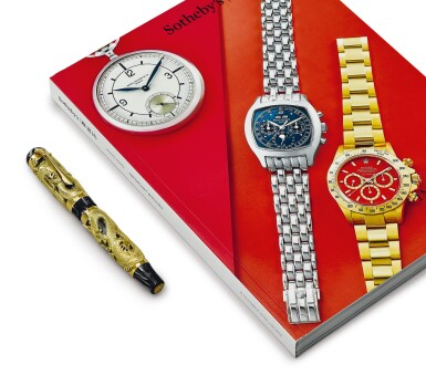 MONTEGRAPPA | A LIMITED EDITION YELLOW GOLD, BLACK MOTHER OF PEARL AND RESIN FOUTAIN PEN, CIRCA 2000