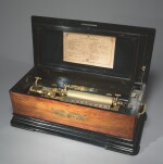 A MUSICAL BOX PLAYING TWENTY-FOUR AIRS OF THREE 33CM CYLINDERS, BY C.L. MATTERN, AMSTERDAM, 19TH CENTURY