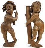 ATTRIBUTED TO HANS JUNCKER (CIRCA 1582-1624), GERMAN, FRANCONIA, EARLY 17TH CENTURY | PAIR OF PUTTI WITH THE INSTRUMENTS OF THE PASSION