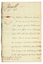 GEORGE III | document signed, addressed to Lord High Chancellor Lord Eldon, 1802
