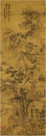 Lan Ying 1585 - 1666 藍瑛 1585-1666   Landscape after Fan Huayuan 青山疊嶂
