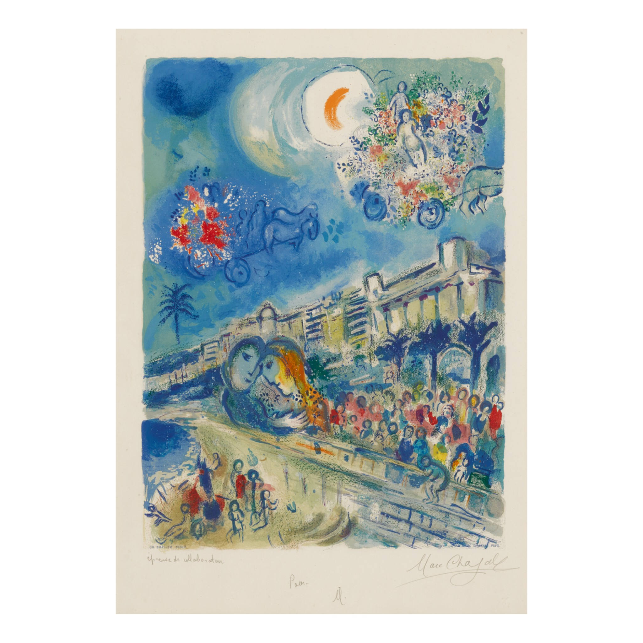 CHARLES SORLIER AFTER MARC CHAGALL | CARNAVAL OF FLOWERS (M. CS 33)