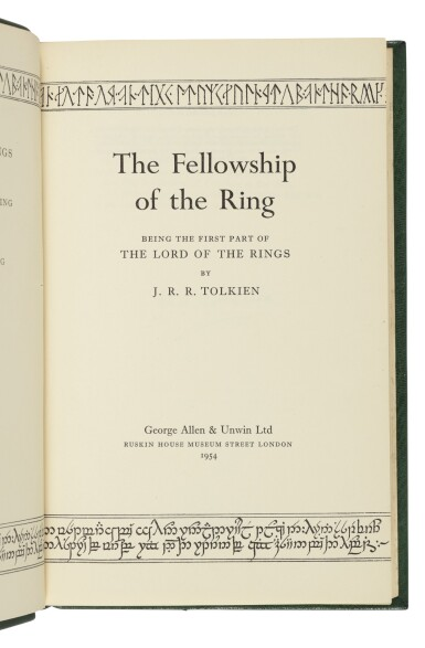 View 2. Thumbnail of Lot 264. Tolkien, J.R.R. | The Lord of the Rings Trilogy, uniformly and handsomely bound.