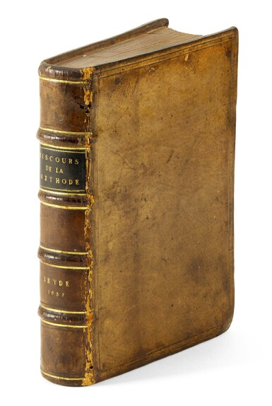 View 2. Thumbnail of Lot 164. Descartes, Discours de la methode, Leiden, 1637, contemporary calf.