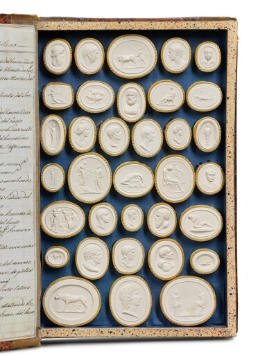 View 3. Thumbnail of Lot 42. A COLLECTION OF GRAND TOUR PLASTER INTAGLIOS BY PIETRO PAOLETTI, ROME, EARLY 19TH CENTURY.