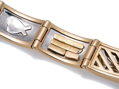 View 5. Thumbnail of Lot 4. TIFFANY & CO. | GOLD AND PLATINUM BRACELET.