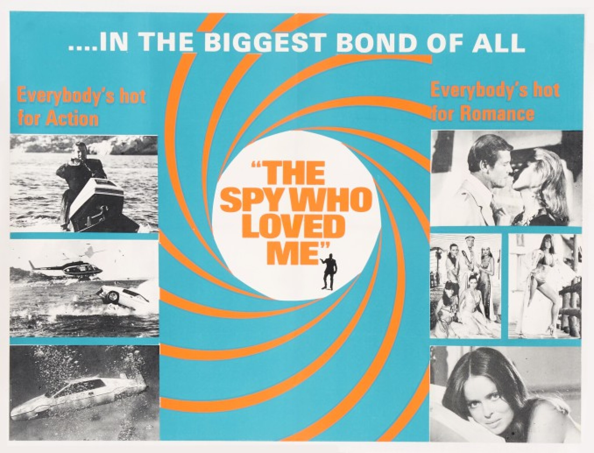 View 1 of Lot 117. THE SPY WHO LOVED ME (1977) SET OF FIVE POSTERS, BRITISH, MARLER HALEY.