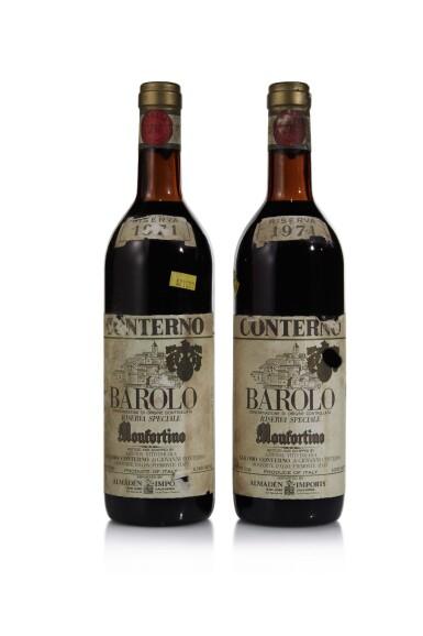 View 1. Thumbnail of Lot 419. Barolo Riserva, Monfortino 1971 Giacomo Conterno (2 BT).