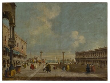View 3. Thumbnail of Lot 22. Venice, a view of St. Mark's Square towards San Geminiano & Venice, a view of the Piazzetta towards San Giorgio Maggiore.
