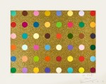 DAMIEN HIRST | UNTITLED (GOLD GIFT SPOT)