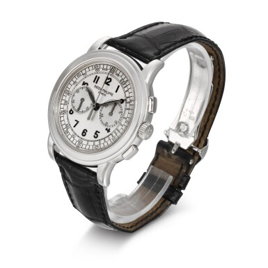 REFERENCE 5070G-001 WHITE GOLD CHRONOGRAPH WRISTWATCH MADE IN 2005