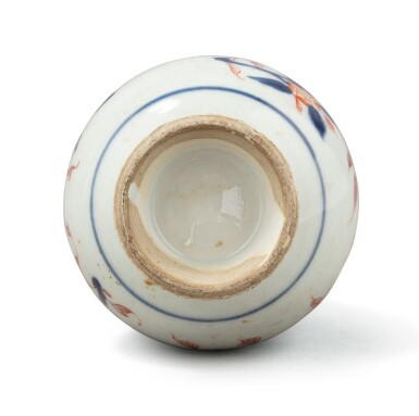 View 7. Thumbnail of Lot 376. A blue and white double gourd vase and two water sprinklers, China, Qing Dynasty, 17th-18th century.