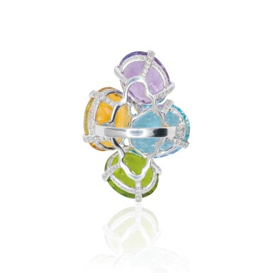 View 2. Thumbnail of Lot 15. GEM SET AND DIAMOND RING, MICHELE DELLA VALLE.