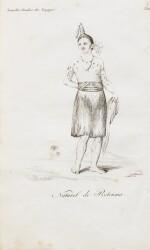 LESSON. Notice sur l'île de Rotouma, 1825. brochure in-8, cousue, sous étui moderne.