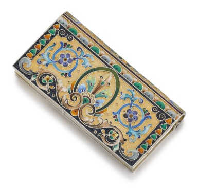 View 2. Thumbnail of Lot 239. A silver and cloisonné enamel stamp box, 11th Artel, Moscow, 1908-1917.