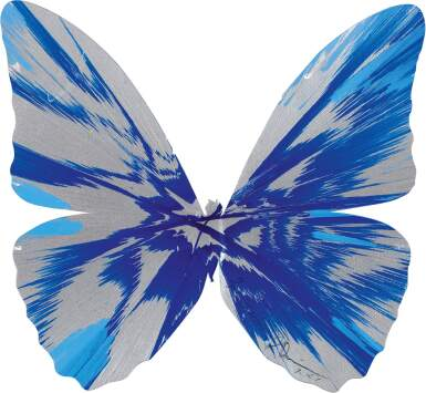 DAMIEN HIRST | UNTITLED PAPER SPIN BUTTERFLY GIFT PAINTING FOR GABBIE