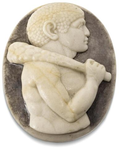 NORTHERN ITALIAN, POSSIBLY MANTUA, FIRST HALF 16TH CENTURY   CAMEO WITH A STYLISED REPRESENTATION OF A MOOR
