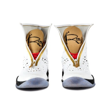 View 10. Thumbnail of Lot 50. Ray Allen Media Day Worn and Signed Air Jordan XXVIII (9/30/2013).
