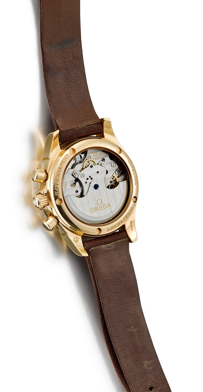 De Ville Co-Axial Chronometer  A Yellow Gold And Diamond-Set Chronograph Wristwatch With Date And Mother-Of-Pearl Dial, Circa 2008