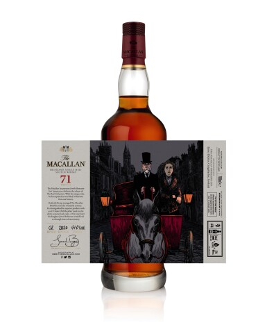 View 8. Thumbnail of Lot 1. The Macallan Red Collection with Exclusive Labels Illustrated by Javi Aznarez (6 bts 70cl).