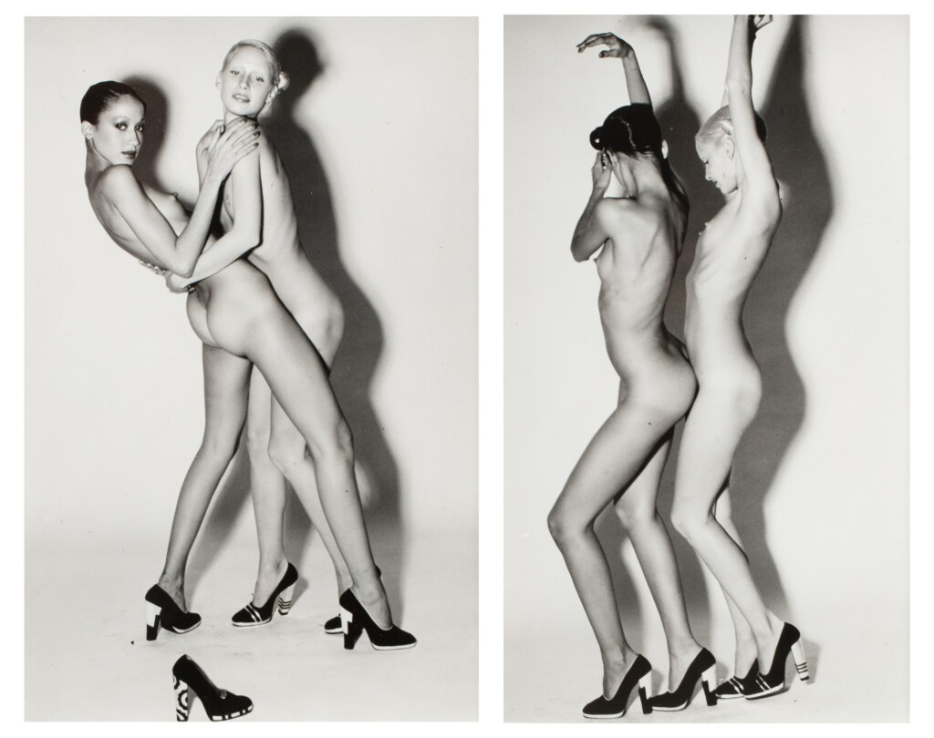 GUY BOURDIN | NUDES WEARING CHARLES JOURDAN SHOES, 1970 (PAT CLEVELAND & DONNA JORDAN)