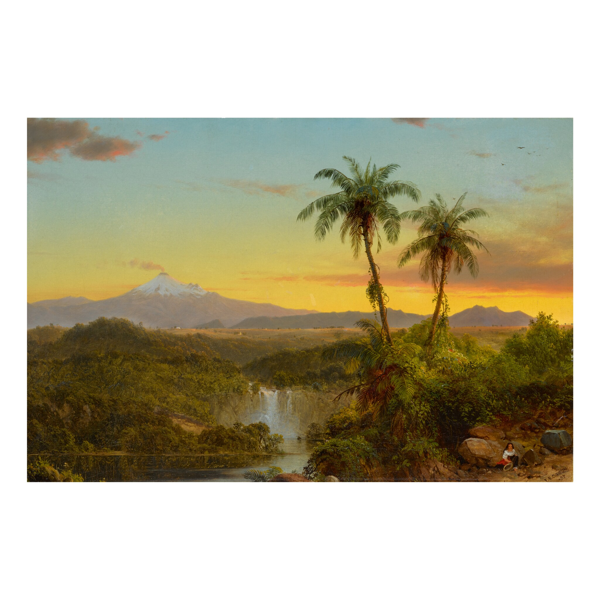 View full screen - View 1 of Lot 36. FREDERIC EDWIN CHURCH | SOUTH AMERICAN LANDSCAPE.