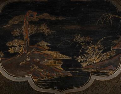 View 4. Thumbnail of Lot 261. Coffre de type Namban Japon, période transition, époque Edo, XVIIE siècle | 日本 過渡時期 江戶時期 十七世紀 南蠻式漆木箱 | A Namban lacquer chest, Transition, Edo period, 17th century .