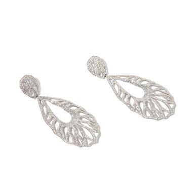 View 2. Thumbnail of Lot 18. Palmiero | Pair of Diamond Pendant-Earrings.