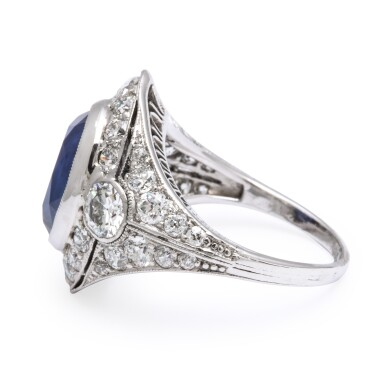 View 3. Thumbnail of Lot 43.  MARCUS & CO.   SAPPHIRE AND DIAMOND RING.