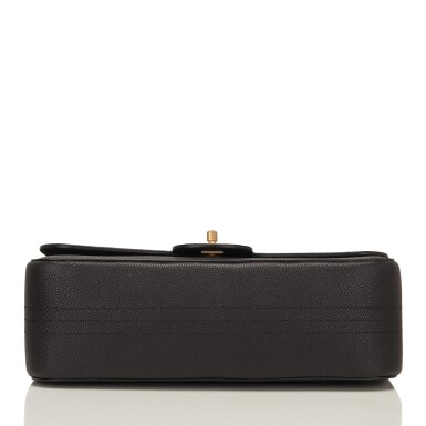 """View 5. Thumbnail of Lot 62.  Chanel """"Pure"""" Jumbo Double Flap Bag of Black Caviar Leather with Gold Tone Hardware."""