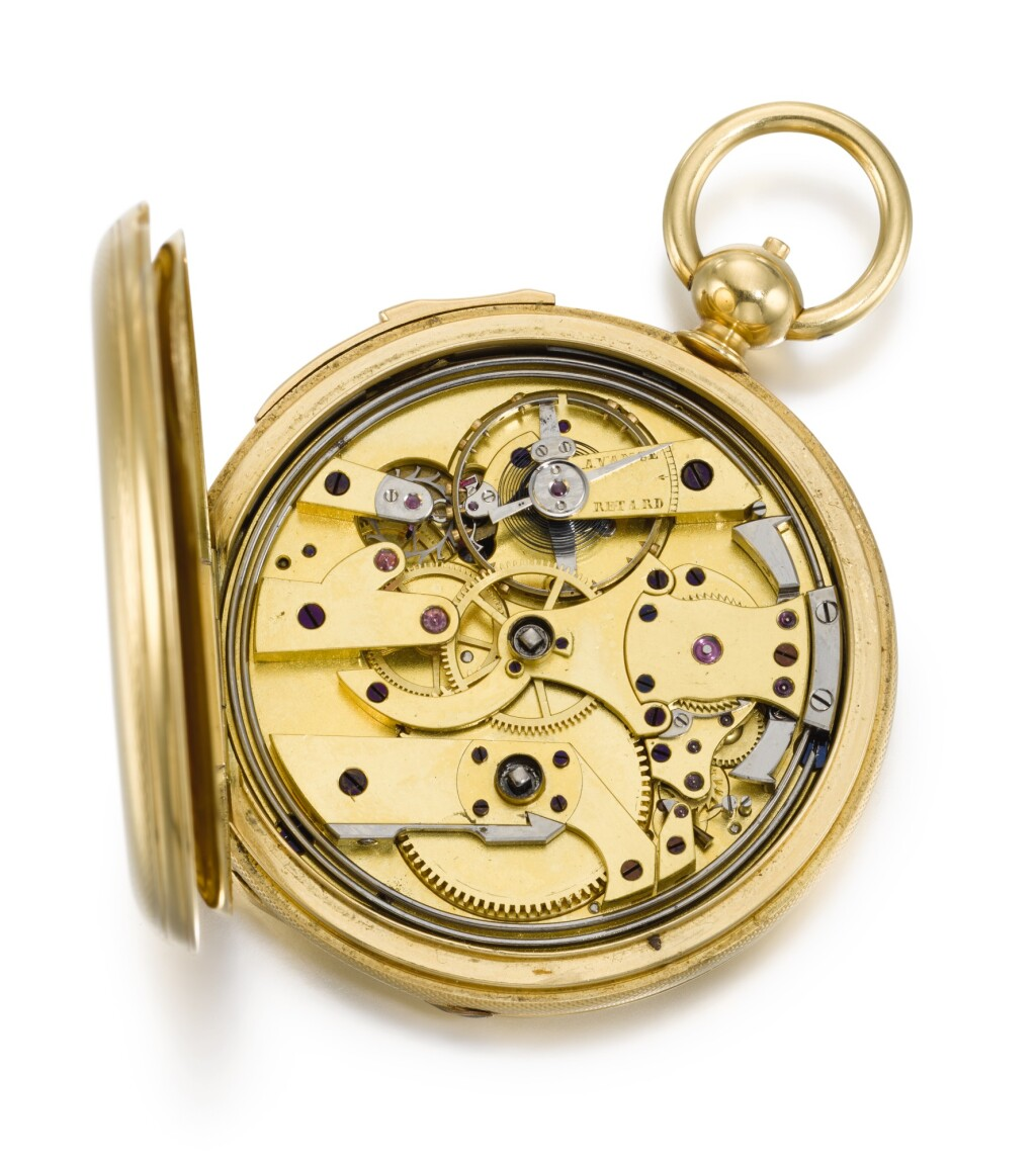 DENIS BLONDEL A GENÈVE | A GOLD HUNTING CASED QUARTER REPEATING LEVER WATCH  CIRCA 1830, NO. 20885