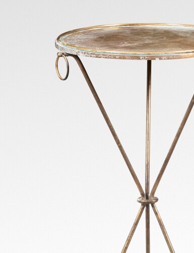 View 3. Thumbnail of Lot 14. JEAN-MICHEL FRANK | PAIR OF OCCASIONAL TABLES, CIRCA 1939 [PAIRE DE GUÉRIDONS, VERS 1939].