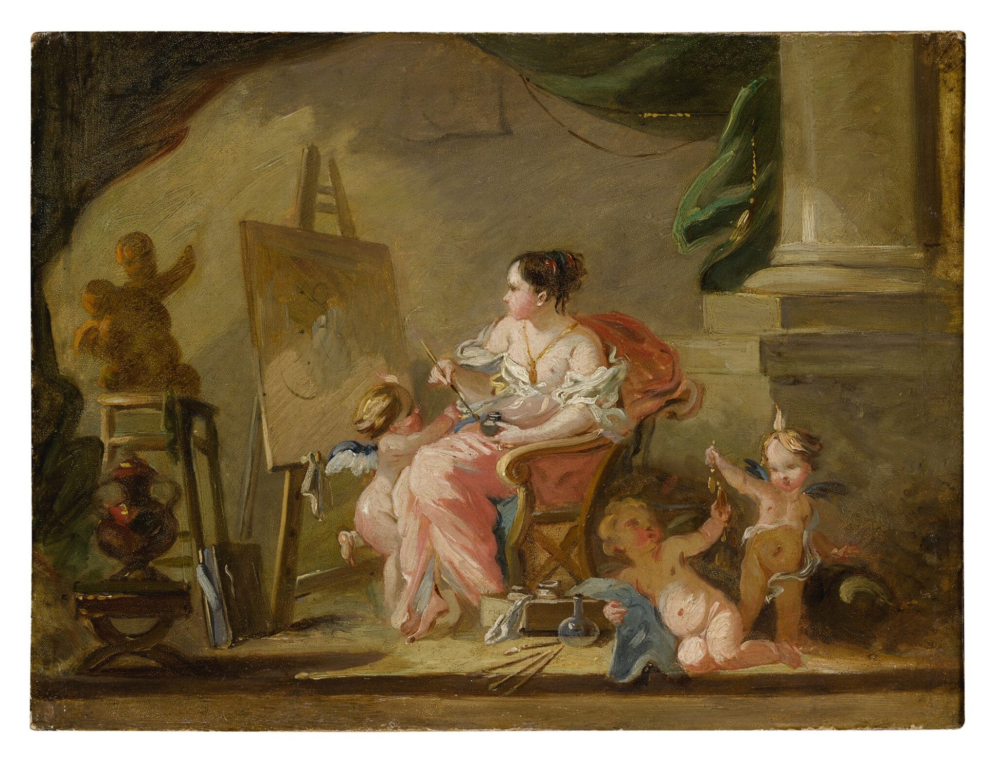 View full screen - View 1 of Lot 614. An allegory of painting.